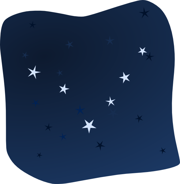 Night Sky Clip Art Black And White Sky clip art