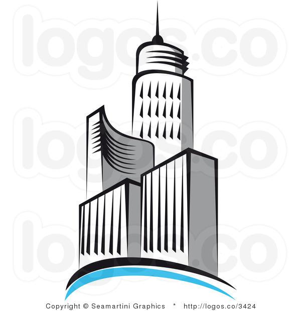 skyscraper clipart black and white clipart panda free