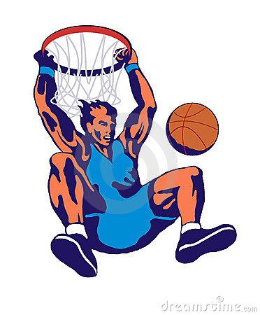 Basketball slam dunk hoop | Clipart - 46.9KB