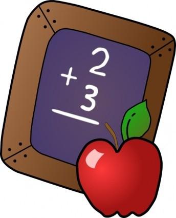 Math Problem on chalkboard 2 + 3