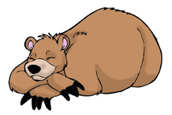 sleeping bear clipart black and white clipart panda free clipart rh clipartpanda com bear sleeping in cave clipart Sleeping Bear in Cave Clip Art