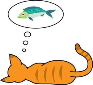 Sleeping kitten clipart clipart panda free clipart images for Dream about fish