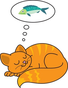 Sleeping kitten clipart clipart panda free clipart images for Dreaming of fish