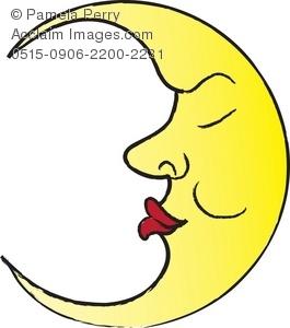 Man In The Moon Illustration | Clipart Panda - Free ...