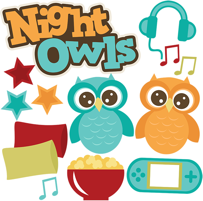 sleepover clipart clipart panda free clipart images Owl Clip Art Black and White Fall Owl Clip Art