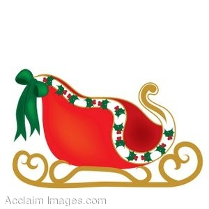 Clip Art Of A Christmas Sleigh Clipart Panda Free Clipart Images