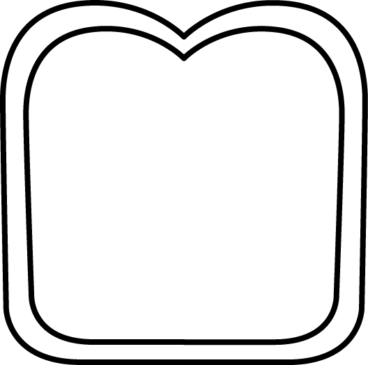 slice of bread clipart black and white clipart panda free rh clipartpanda com Loaf of Bread Clip Art slice of bread clipart free