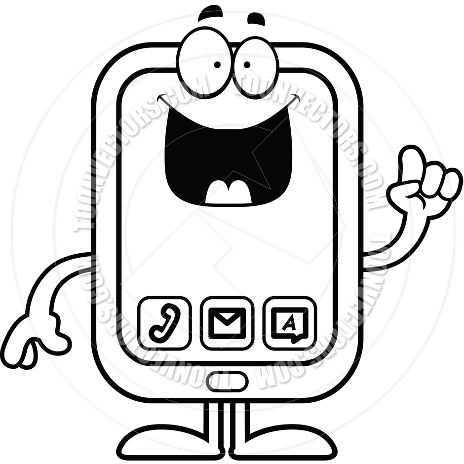Smartphone Clipart Black And White | Clipart Panda - Free ...