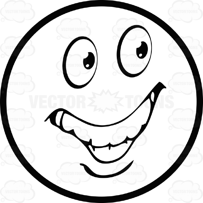 Smiley Face Black And White Hand Drawn Clipart Panda
