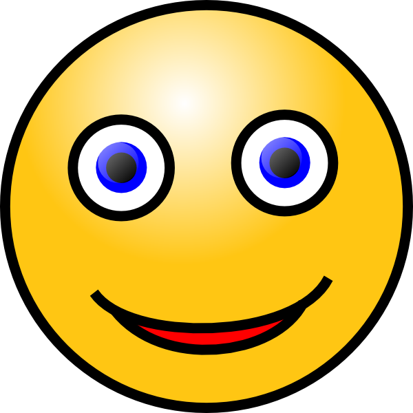 Image Gallery moving animated happy face