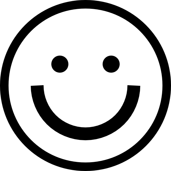 Smiley Face Black And White Laughing | Clipart Panda ...