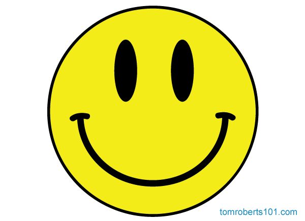 Smiley face emotions cartoon
