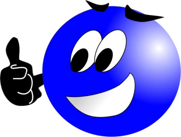 Blue Happy Face Icon | www.pixshark.com - Images Galleries ...