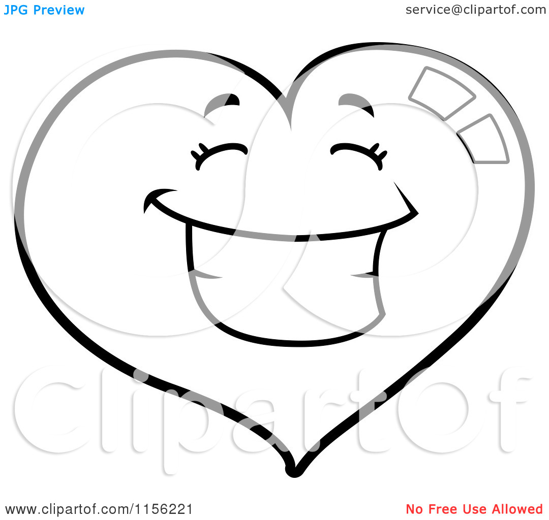 Smiley Face With Love Heart Eyes Coloring Page Of Kids Delighful Smiley20face20clipart20black20and20white On