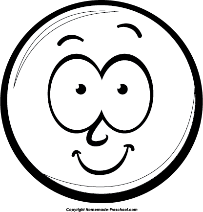 Laughing Smiley Face Black And White | Clipart Panda ...