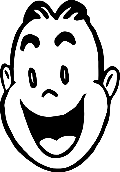 Happy Face Clipart Black And White | Clipart Panda - Free ...