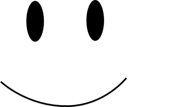 Line Drawing Of Happy Face : Smiley face clipart black and white panda free