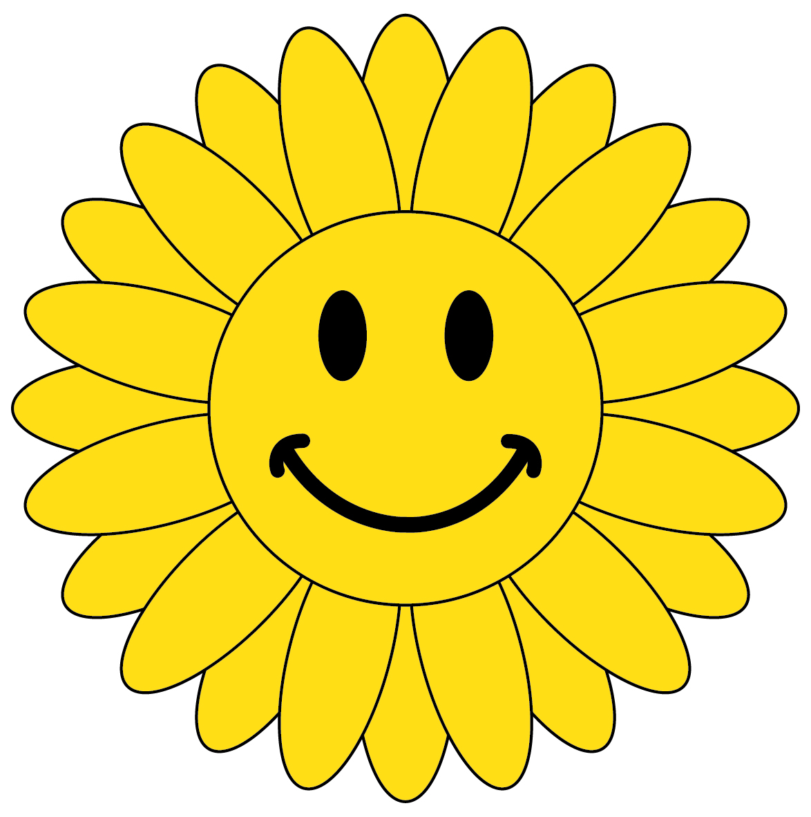Smiley Face Flower Clipart | Clipart Panda - Free Clipart ...