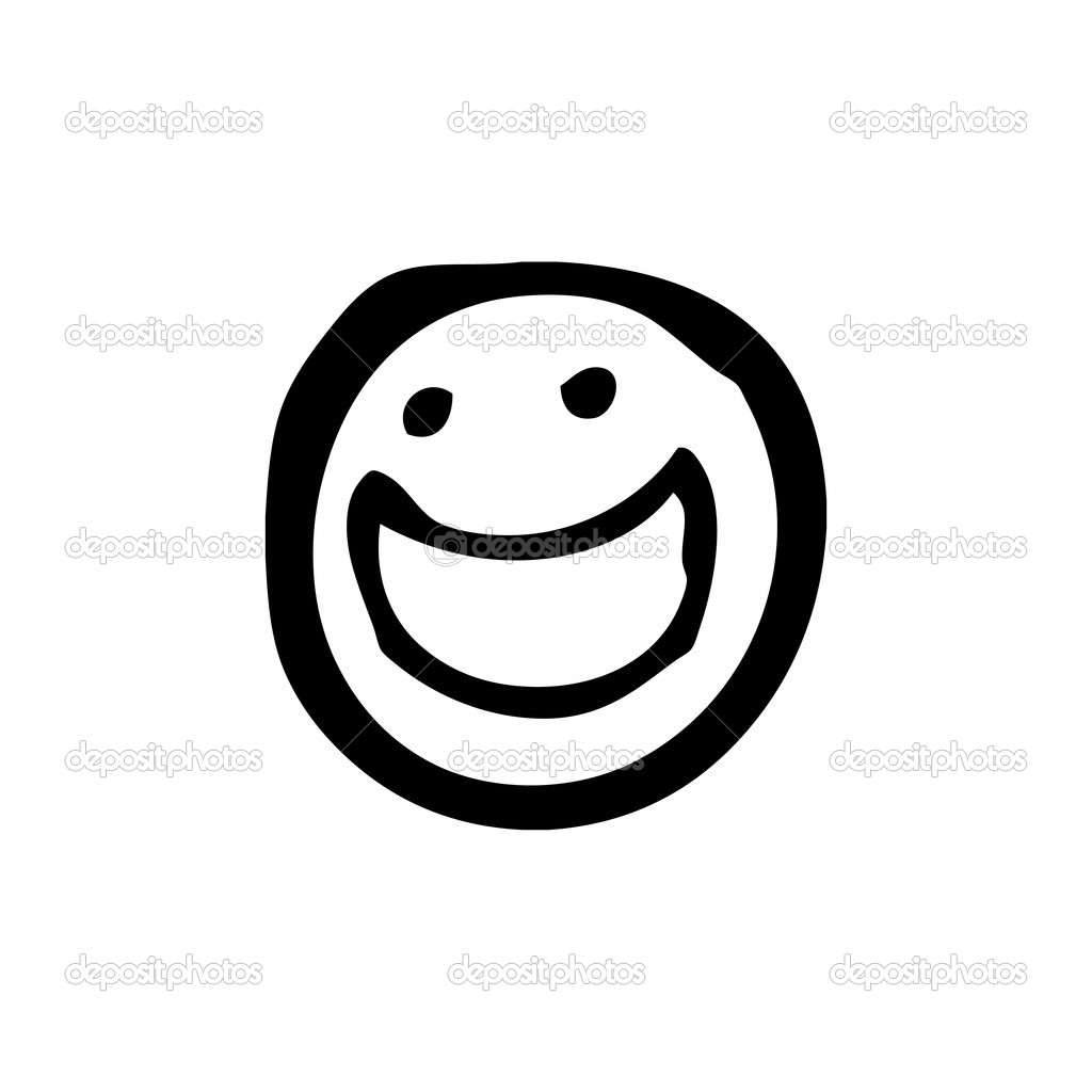 Line Drawing Of Happy Face : Smiley face thumbs up black and white clipart panda