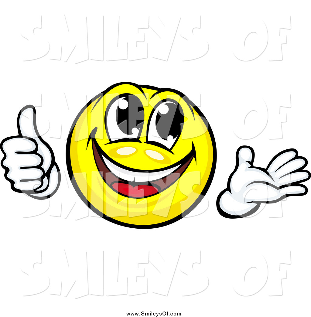 Yellow smiley face thumbs down