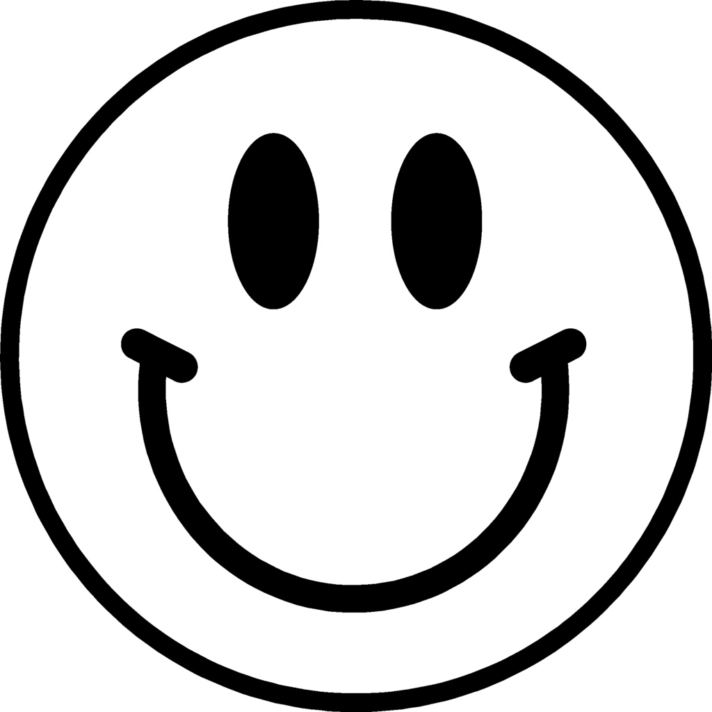 Line Drawing Of Happy Face : Smiley face transparent background clipart panda free