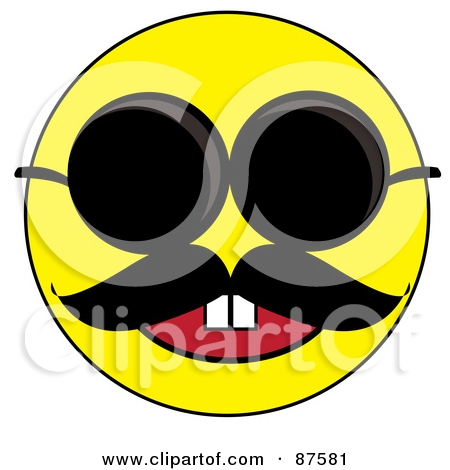 f3c9473383ee Smiley Face With Mustache And Sunglasses