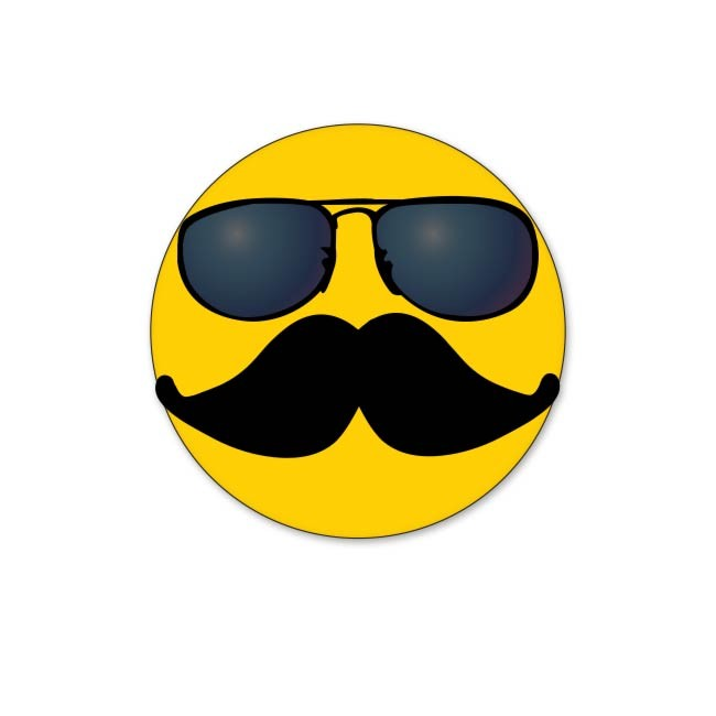 Smiley Face With Mustache And Sunglasses | Clipart Panda ...