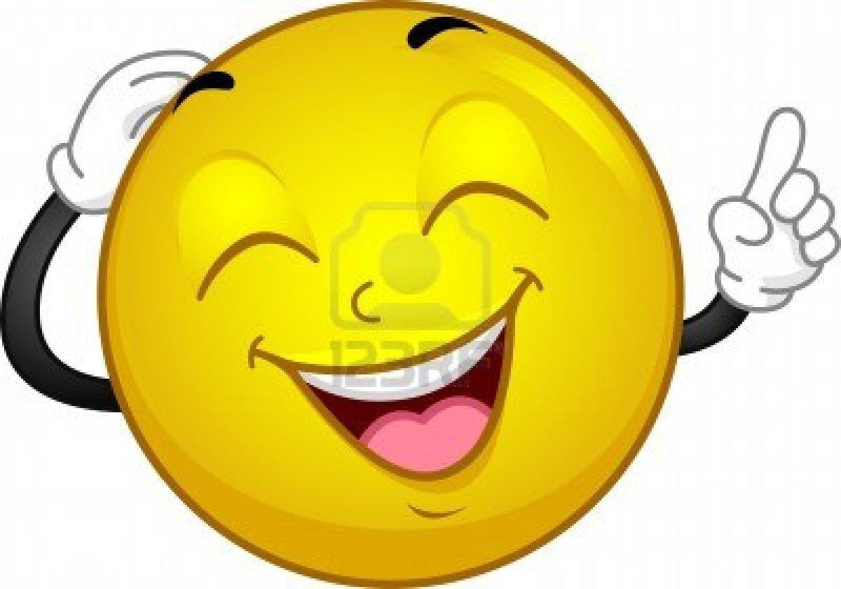 lachender smily