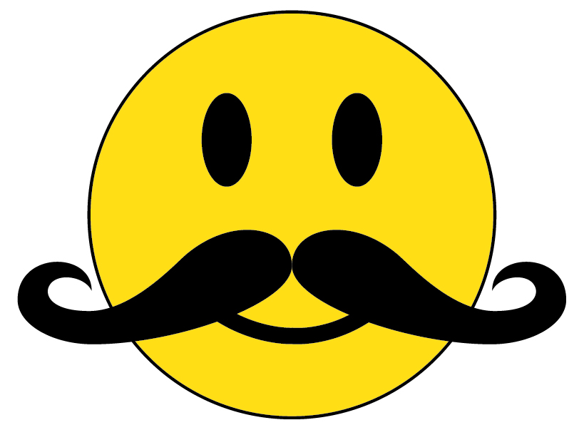 smiley face with mustache clipart panda free clipart images