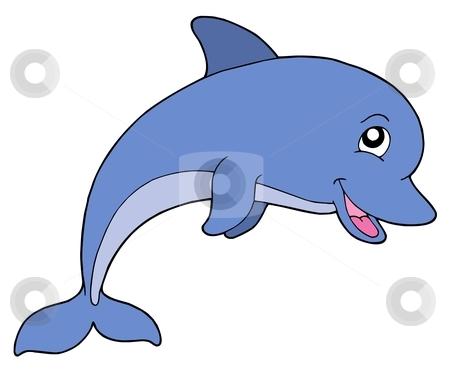 Smiling Dolphin Clipart