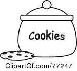 ... black-and-white-77247-Black-And-White-Chocolate-Chip-Cookie-By-A-Jar