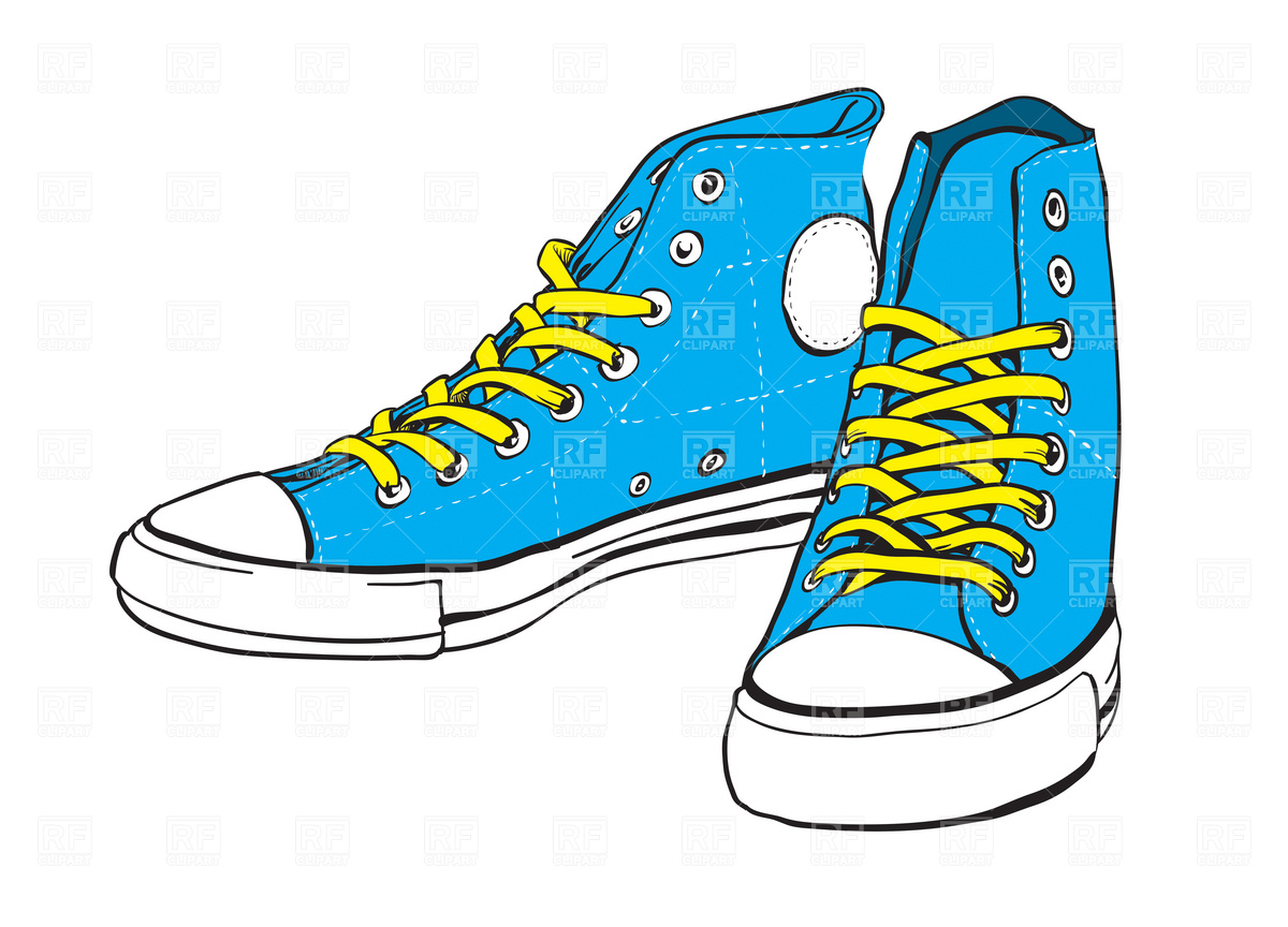 Blue And Yellow Tennis Shoes