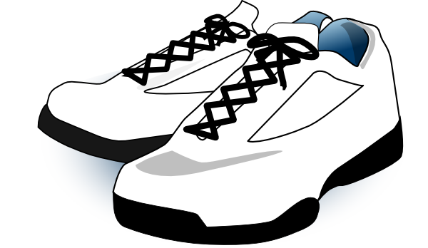 tennis shoes clipart black and white clipart panda free clipart rh clipartpanda com clipart pictures of tennis shoes Shoe Art
