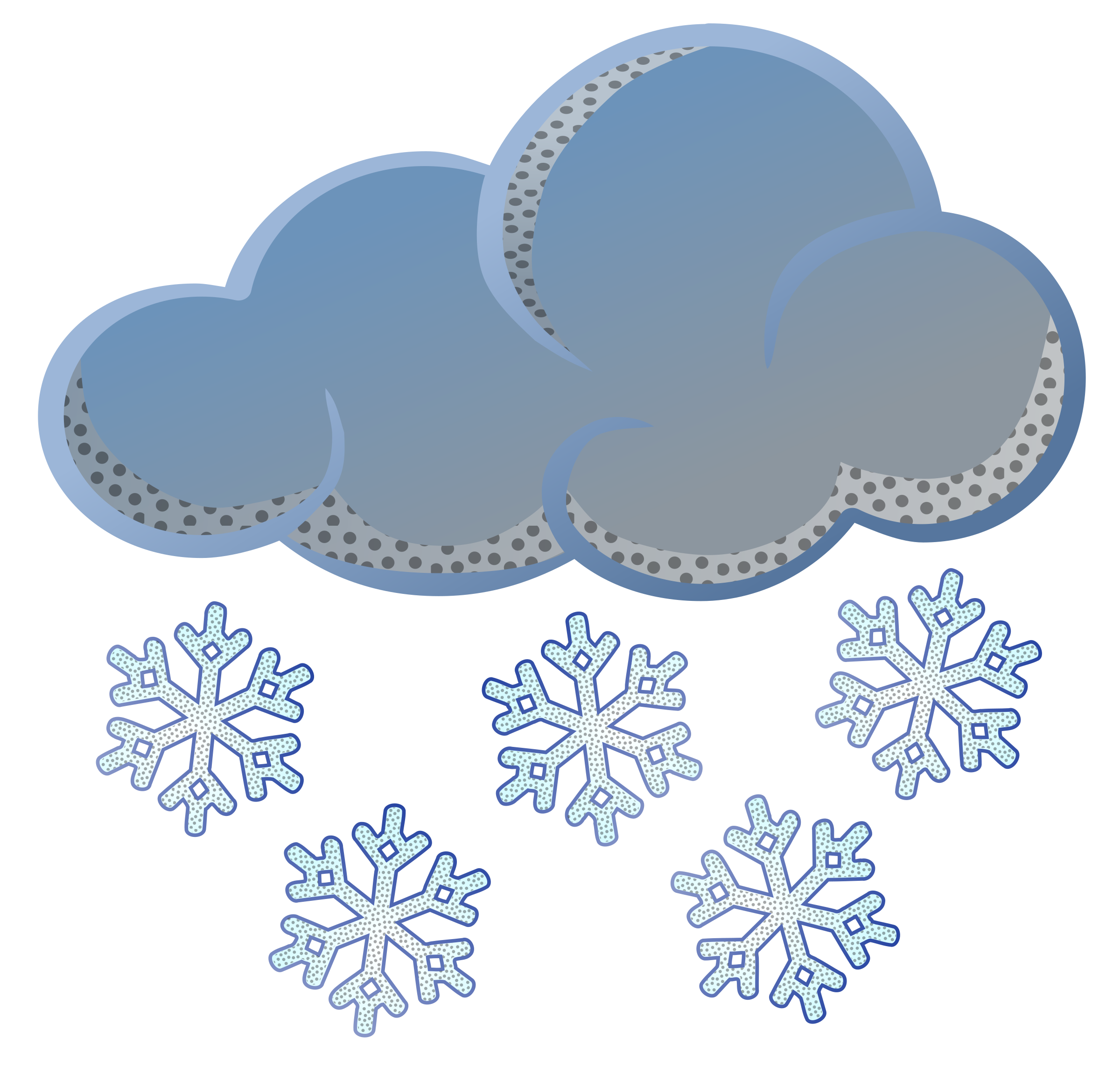 Clipart - snow - coloured