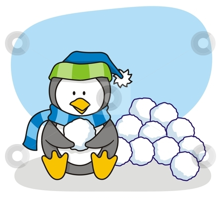 snowball-clipart-cutcaster-photo-100555770-Little-penguin-3.jpg