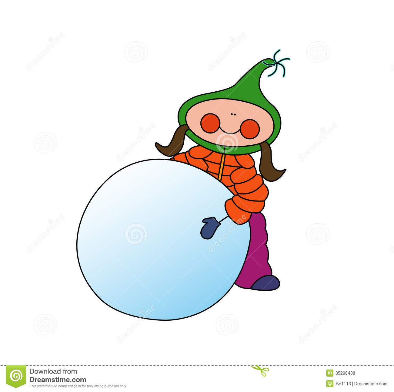 snowball-clipart-girl-rolling-snowball-cartoon-dressed-up-winter ...