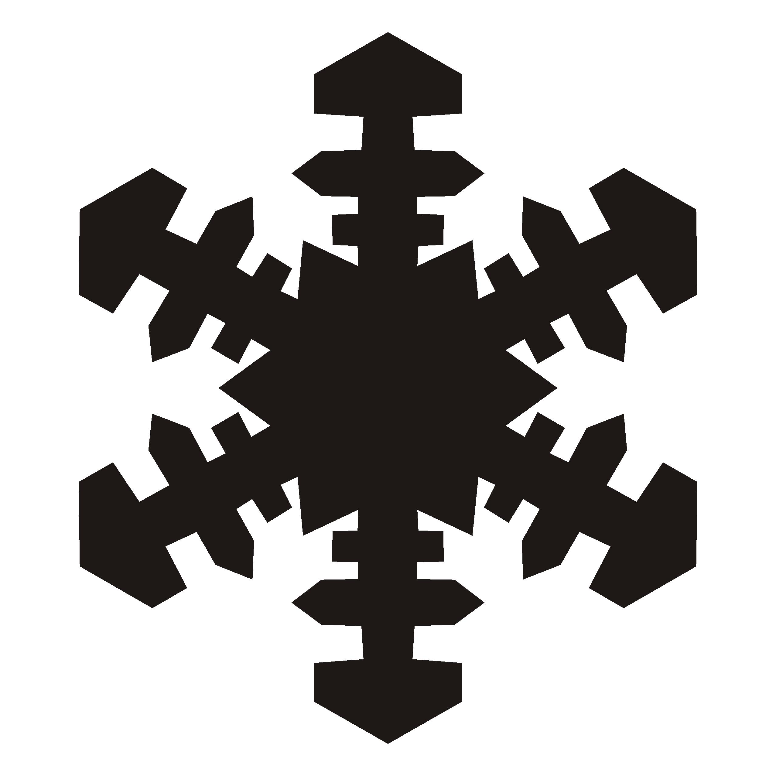 Snowflake Clipart Black And White | Clipart Panda - Free ...