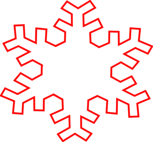 Red Snowflake Outline clip art | Clipart Panda - Free Clipart Images