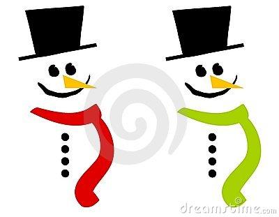 Printable Snowman Face Template