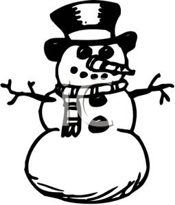 snowman clipart black and white – Clipart Download