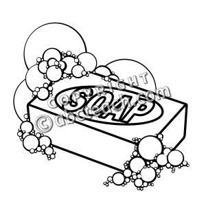 Clip Art: Soap B&W - preview 1   Clipart Panda - Free Clipart Images