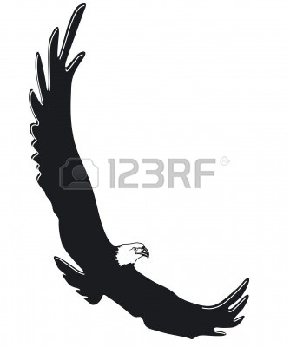 Soaring Eagle Clipart Black And White | Clipart Panda ...