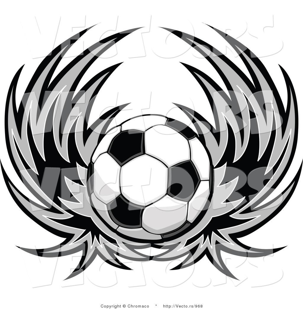 Soccer Ball Clip Art Black And White | Clipart Panda - Free
