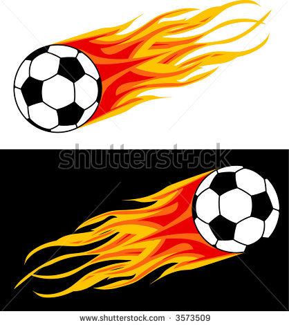 Soccer Ball With Flames Clipart Clipart Panda Free