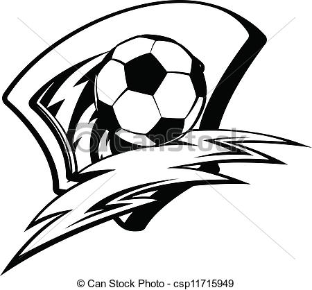 Kids Soccer Clipart Black And White | Clipart Panda - Free