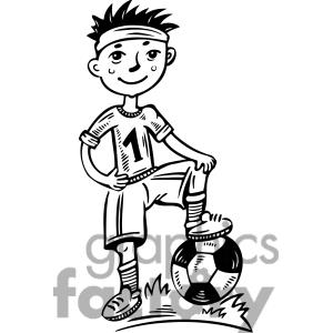 Soccer Player Clipart Black And White | Clipart Panda ...