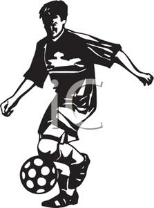 soccer%20player%20clipart%20black%20and%20white