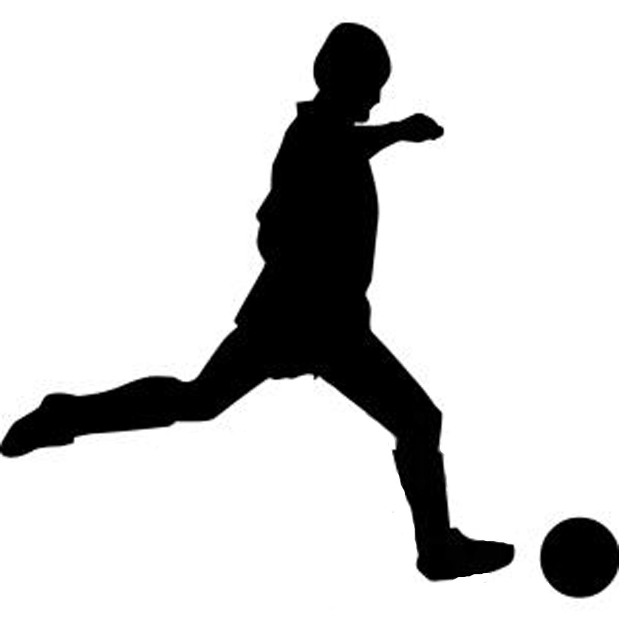 Soccer Player S... Girl Soccer Silhouette Clip Art