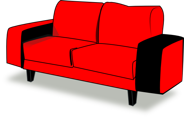 Red Couch clip art - vector