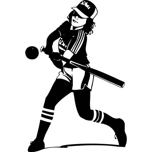 Softball Clipart Black And White | Clipart Panda - Free ...